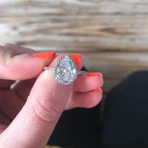 Pandora radiant teardrop ring size 7.5